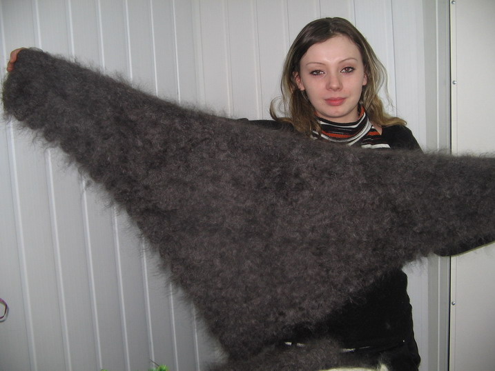 фото платок пуховый